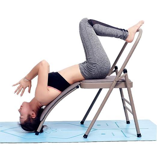 YUSDP Banco de inversión de Yoga Plegable con Soporte para ...