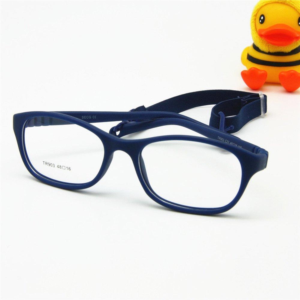 EnzoDate bambini delle lenti ottico Frame con cinghia Taglia 48 un pezzetto di bambini delle Occhiali con cavo morbido /ragazze ragazzi occhiali non/