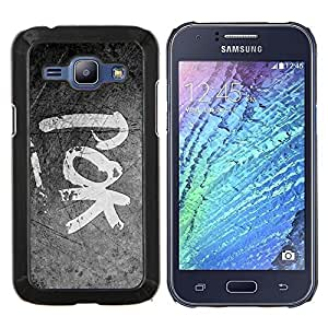 TECHCASE---Cubierta de la caja de protección para la piel dura ** Samsung Galaxy J1 J100 ** --POK