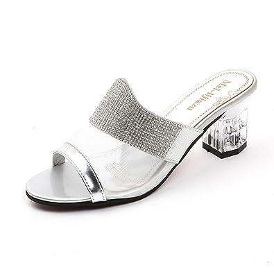 92a42d3b4daf88 Lolittas Women High Heel Crystal Diamante Sandals Shoes Glitter Bling Lace  up