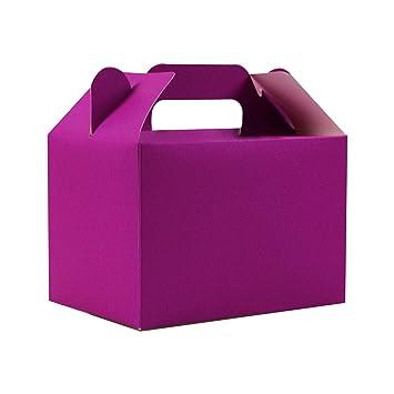 Stomping Ground Toys Cajas para Dulces - 12 Cajas de cumpleaños Colores Arcoíris - Cajas Galletas - Cajas Regalo Personalizadas para Baby Shower, ...