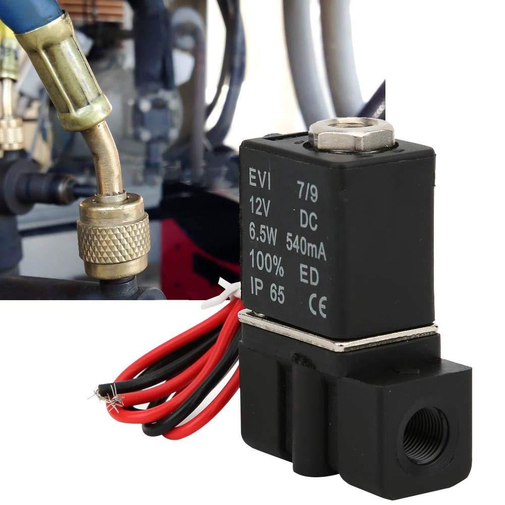 normalerweise geschlossener Magnetventilschalter f/ür die Steuerung von fl/üssigem Luft-Wasser-/Öl-Fluid G1 // 4 Elektrisches Magnetventil schnell ansprechendes Kunststoff 2-Wege-2-Positionen-Messing