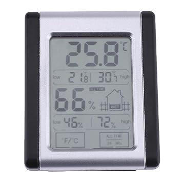 prettygood7 - Termómetro digital con monitor de humedad para interior y LCD (medidor de humedad