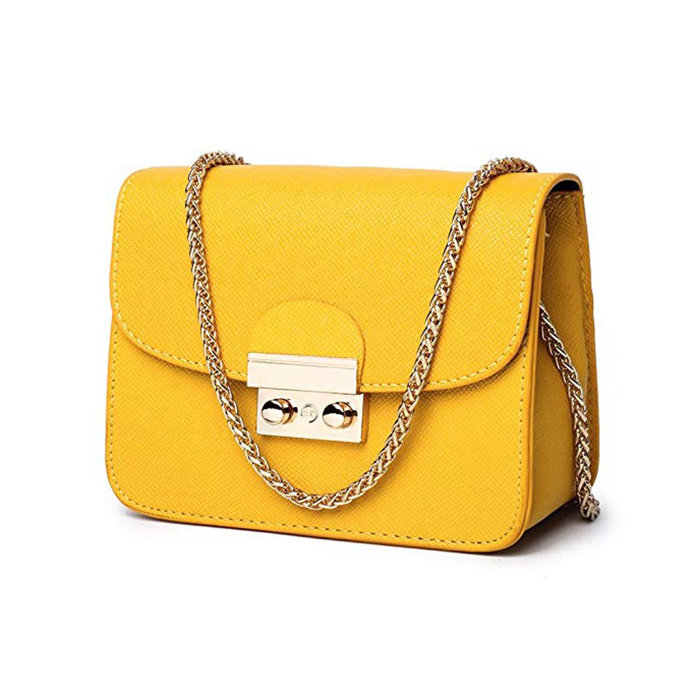 TOTZY Small Shoulder Bag for Women/Girls Yellow
