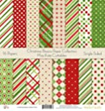 """Pattern Paper Pack - Christmas Basics - Scrapbook Premium Specialty Paper Single-Sided 12""""x12"""" Collection Includes 16 Sheets - by Miss Kate Cuttables"""