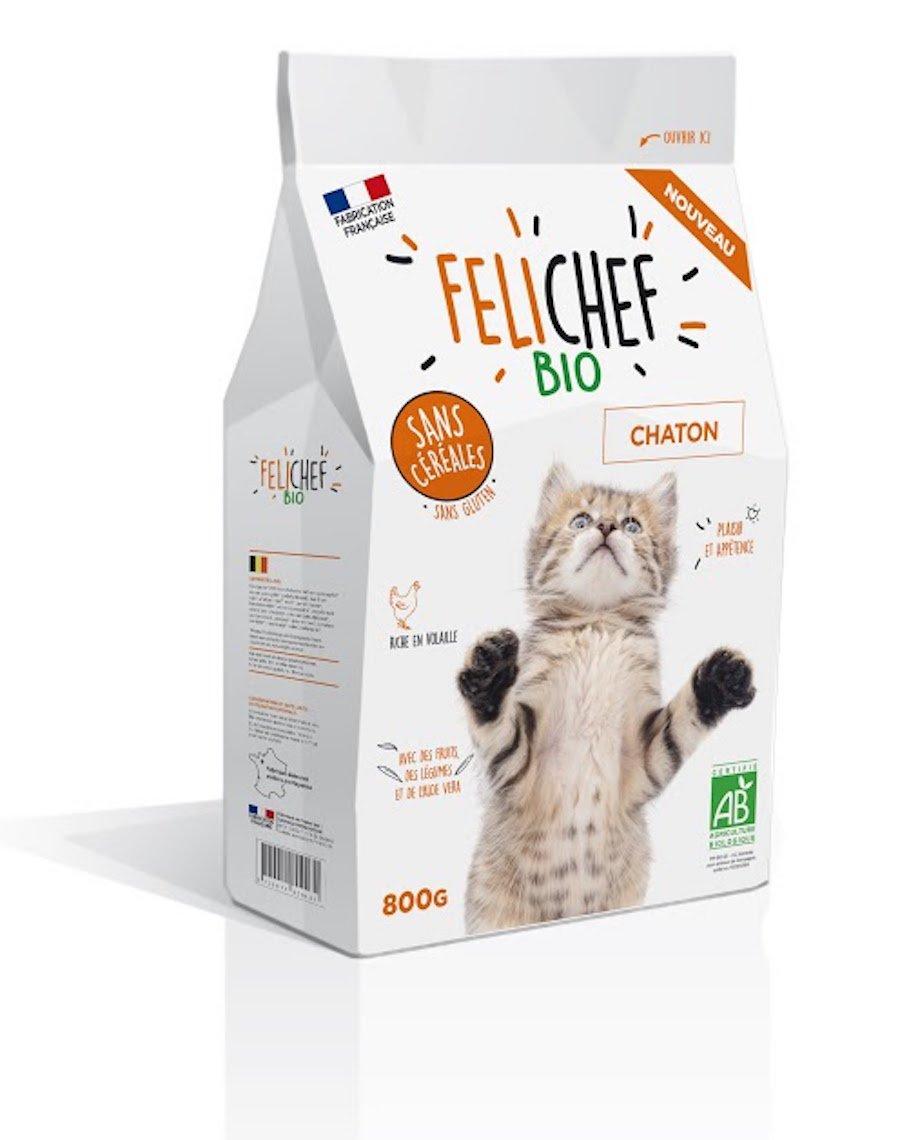 Felichef croquettes BIO sans céréales, sans gluten chaton 800 g Sauvale Production