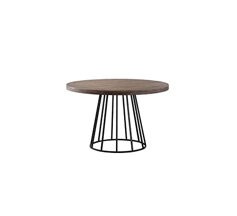 Amazon Com Wood Style Furniture Mayfair Industrial Round