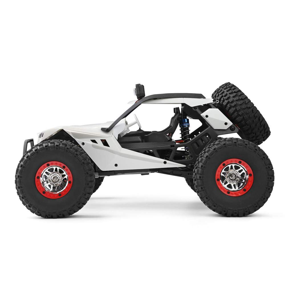 Choosebuy❤️ Wl 540 Brush Motor High Speed 40km/h 1:12 4D 2.4GHz Radio Off-Road Remote Control Car Racing with LED Children Adults Christmas Birthday Gift (White) by Choosebuy (Image #2)