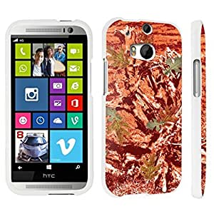 DuroCase ? HTC One M8 Hard Case White - (Hunter Camo Orange)