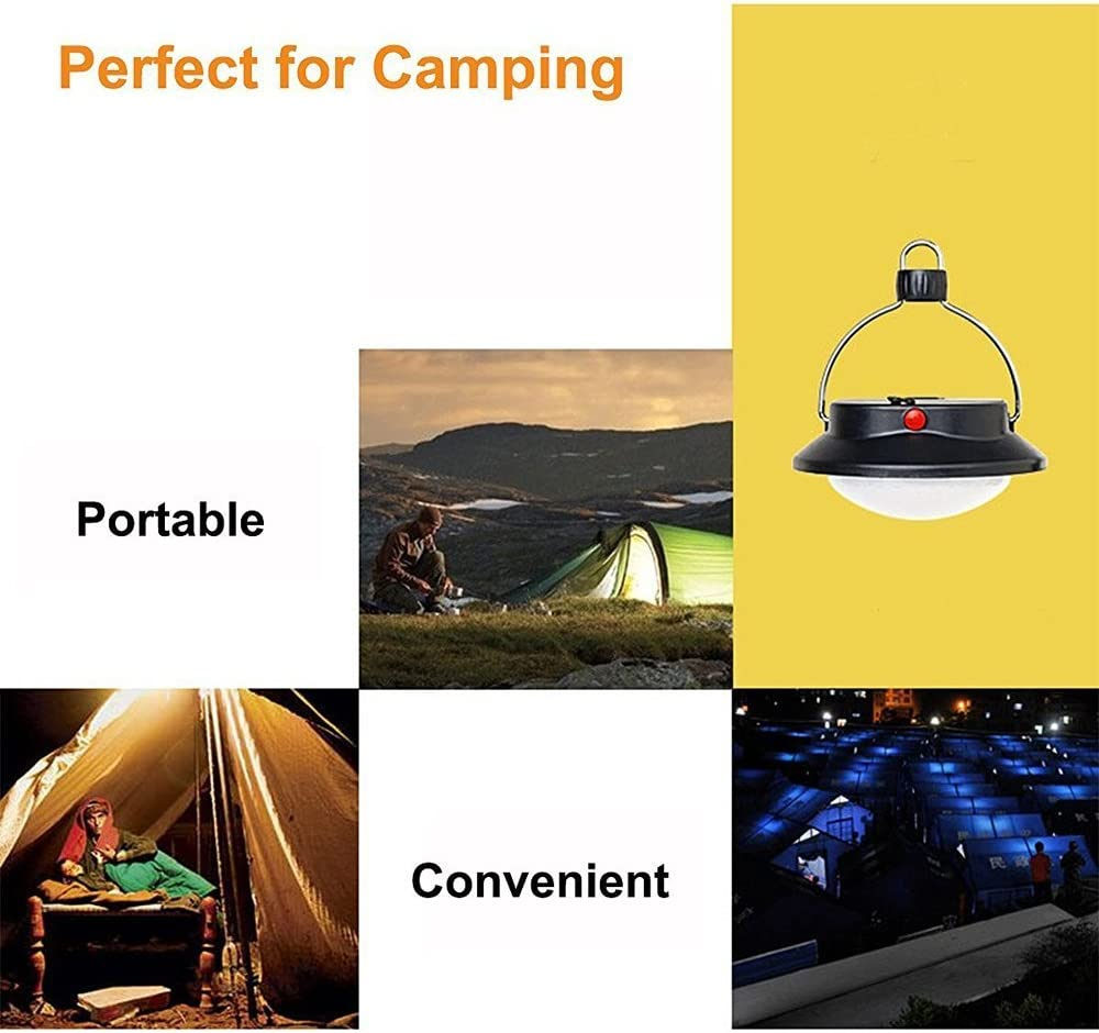 60 LED Wiederaufladbare H/ängende Lampe mit USB Kabel und Batterie f/ür Camping Wandern und Notfall Camping Lampe LED Campinglampe Zelt Laterne Camping Laterne