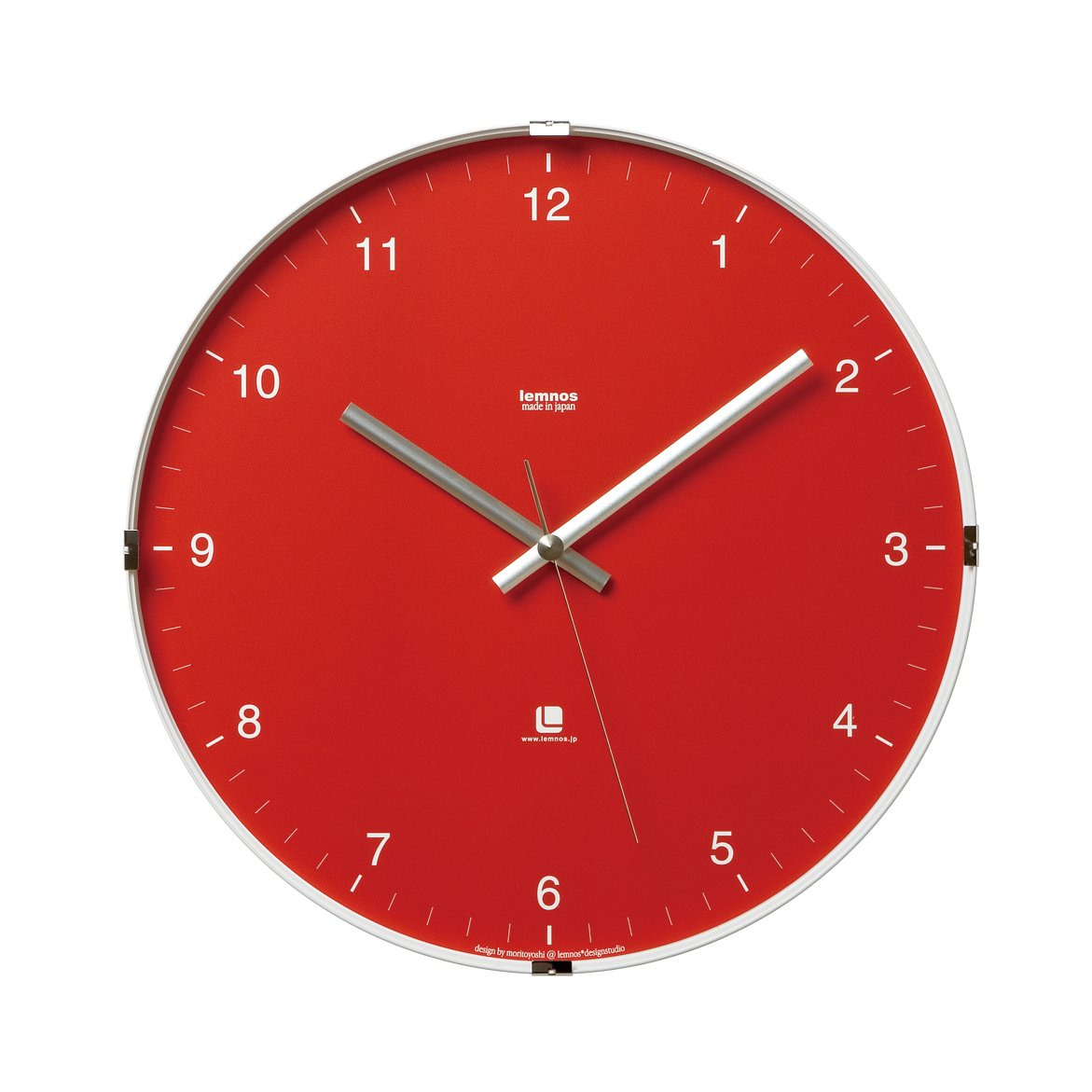 Lemnos North clock レッド T1-0117 RE B000OFYKK2レッド