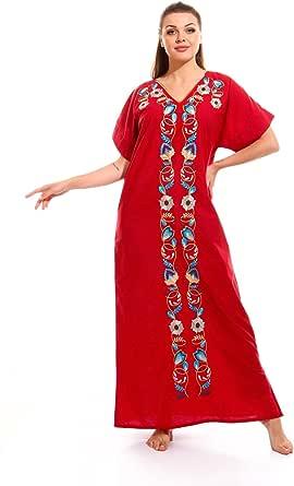 Casual Mixed Material Jalabiya For Women , 2725614004678
