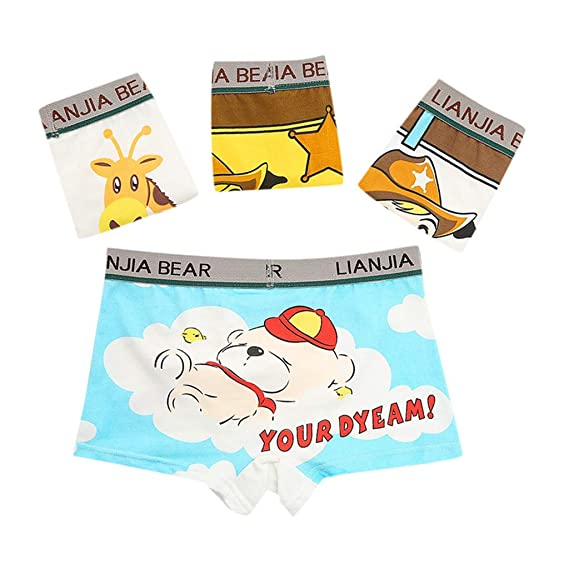 b7ef9dbc29e7e9 H.eternal Baby Girl'Underwear Short Pants Briefs Reusable Potty Training Pants  Pack of 4 Elastic Waist brifes Cotton Boxer Nappy Cover Knickers Cartoon  Bear ...