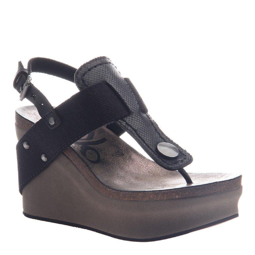 OTBT Women's Joyride Wedge Sandal B06WP75VWY 6.5 B(M) US Black