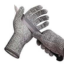 K-mover Cut Resistant Gloves for Work or Home- High Performance Level 5 Protection for Your Safety, Food Grade (Large)