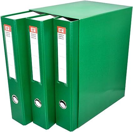 MP PC171-07 - Pack de 3 archivadores, color verde: Amazon.es ...