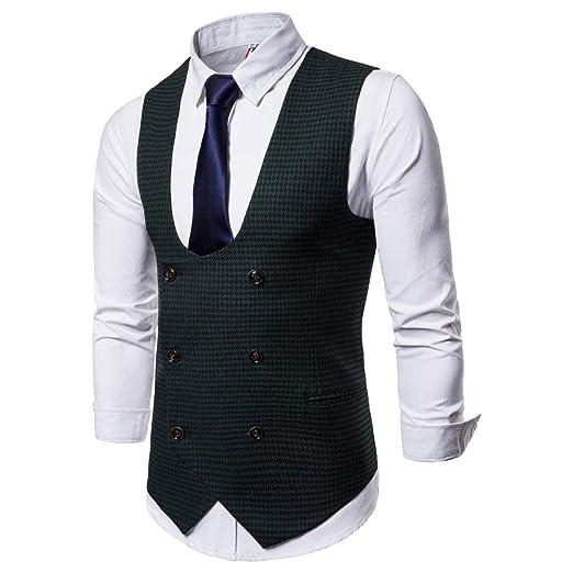 TWBB Mantel Herren Weste Tuxedo Waistcoat U Neck Passen
