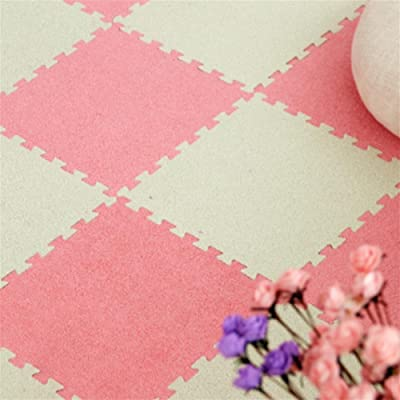 WENBIAOXUETapis de daim Tapis de mousse imbriqués de tapis - parfait pour la protection de plancher, exercice, yoga, salle de jeux. mousse (9 carreaux) , 013 , 30*30