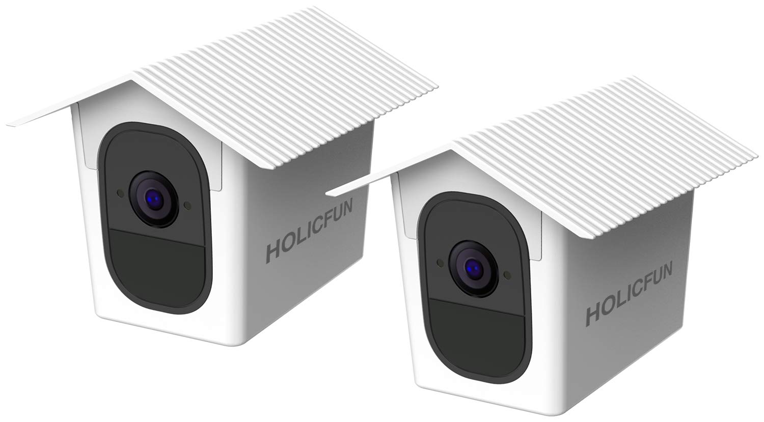 Holicfun Outdoor Weatherproof Housing Compatible with Arlo Pro and Arlo Pro 2 Camera (White, 2 Pack) by Holicfun