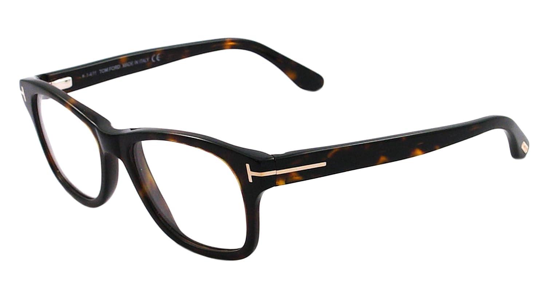 Amazon.com: Tom Ford FT5147 Eyeglasses-052 Dark Havana-52mm: Tom ...