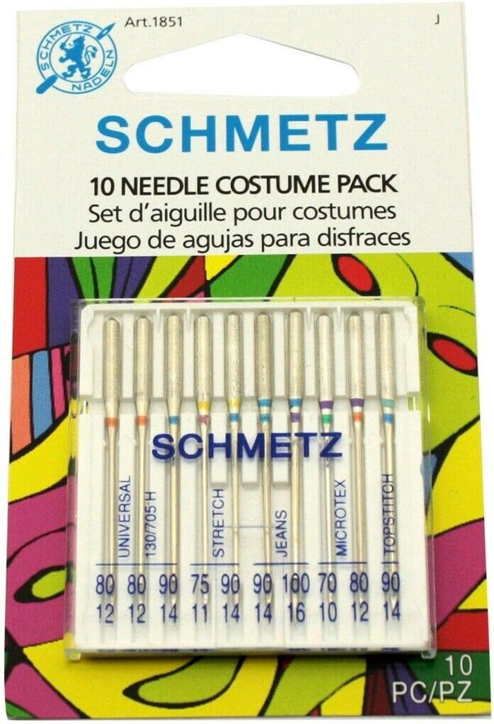 Schmetz 10 Needle Costume Pack for Home Sewing Machine