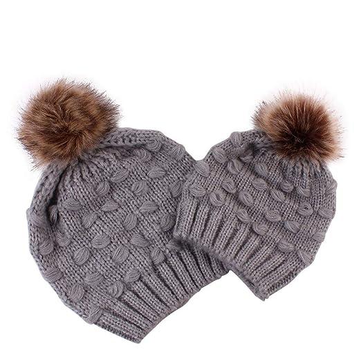 5686545d0 Amazon.com: Women Beanie Caps,Fashion Mom and Baby Knitting Keep ...