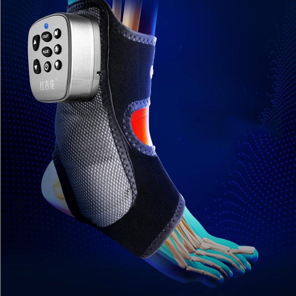 QRFDIAN Cheville masseur cheville articulation de la cheville cou malaxage kin/ésith/érapie tendheron d/'Achille vibration du pied chaleur pack airbag massage compresse chau vibration multi-fr/équence