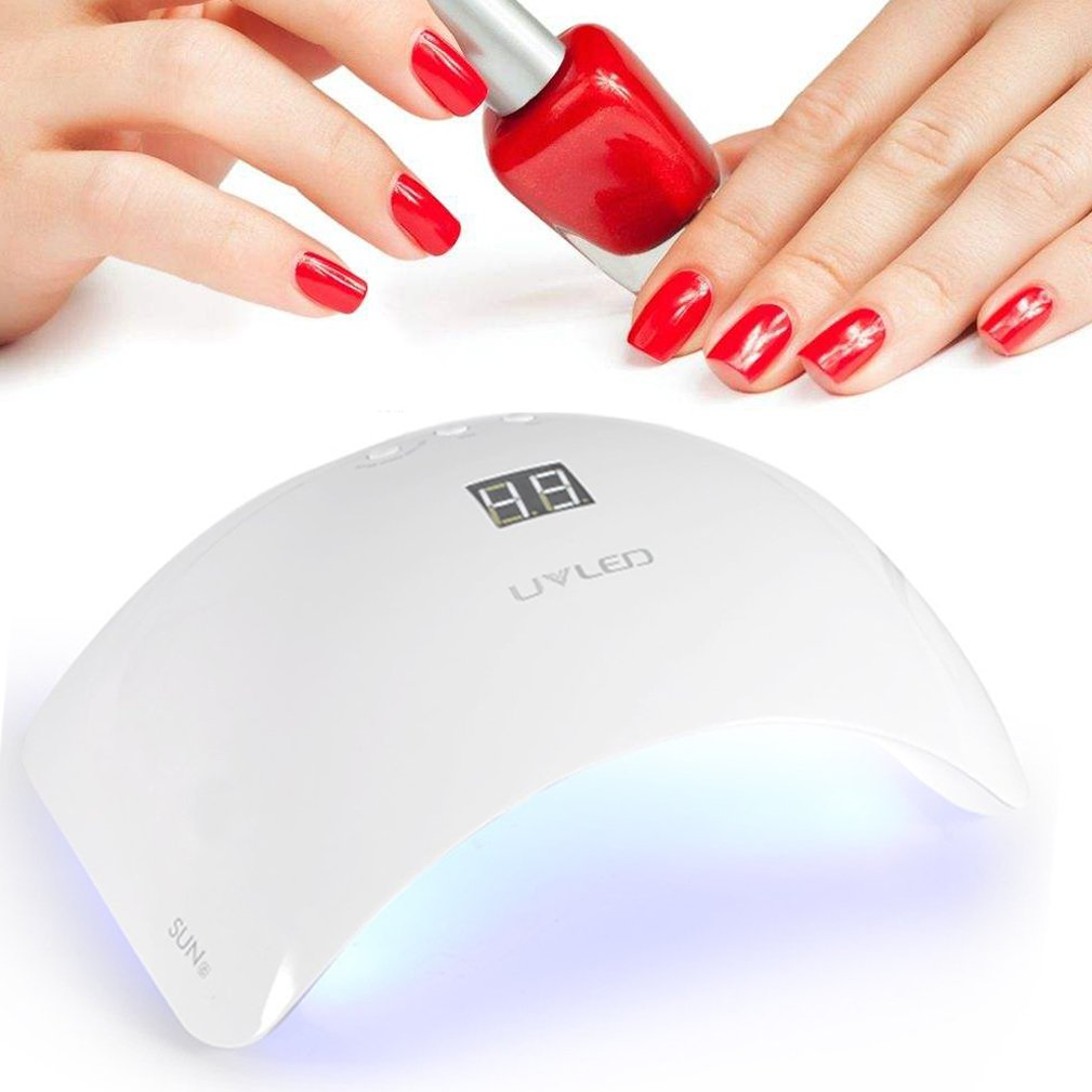 SUN8 48W UV LED Nail Dryer Light with 3 Timer, LCD Display, Sensor and Double-Speed Curing Manicure Lamp for Gel Nail Polish ZJchao