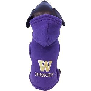 competitive price ddc27 62bab NCAA Washington Huskies Polar Fleece Hooded Dog Jacket
