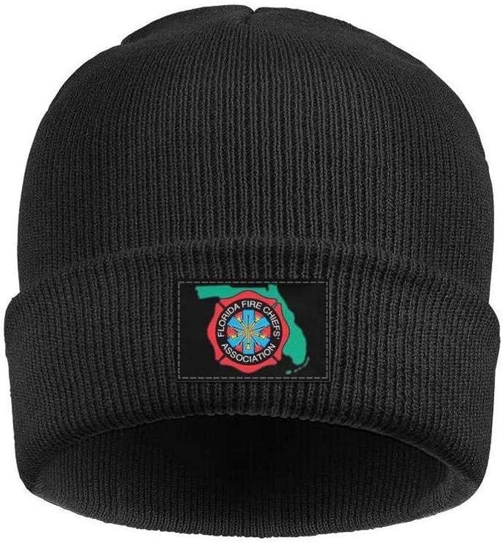 DXQIANG Florida-Fire-Chiefs-Association Men Women Knit Beanies Hat Slouchy Skull Knit Cap