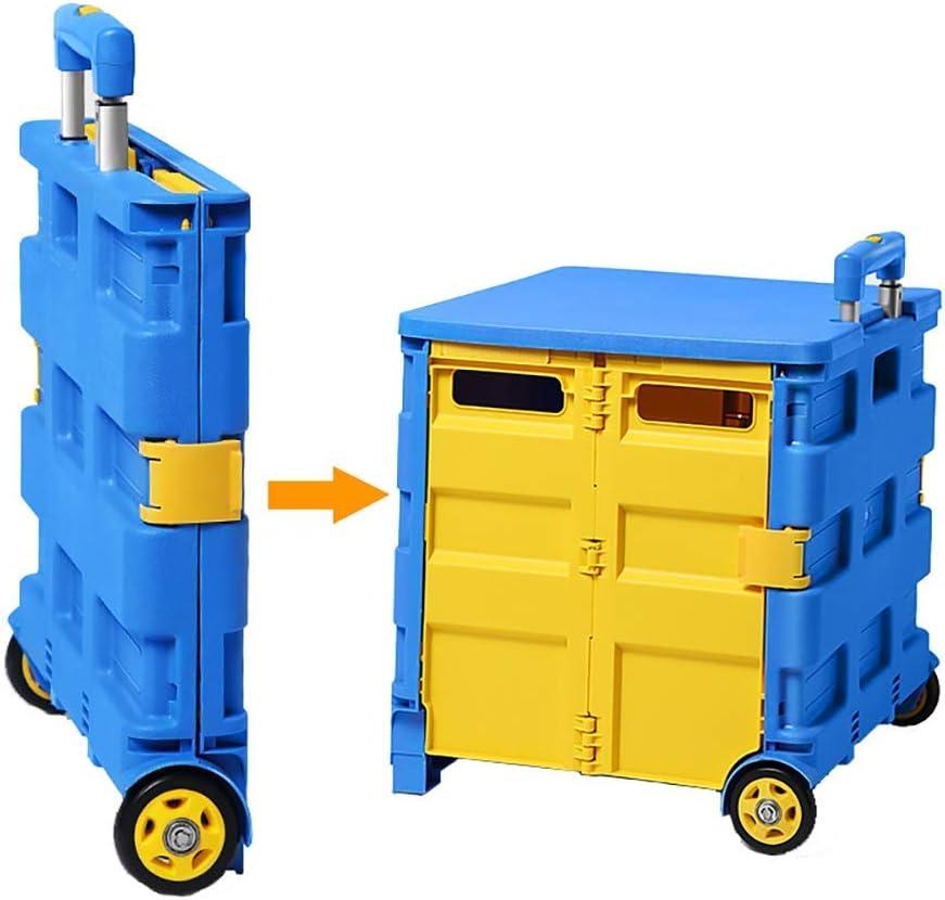 Xyfw Carro De Compras 65L Plegable hasta 40 Kg, Caja Plegable para Carrito De Compras Caja Plegable para Carrito De Compras con Ruedas, Asa Ajustable,M: Amazon.es: Hogar