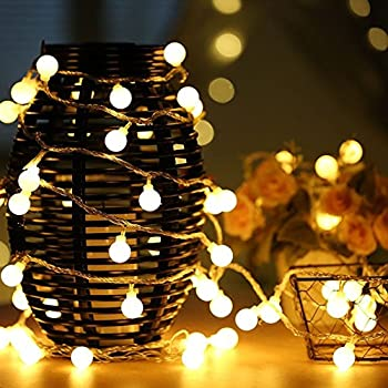 Vorally 100 LED Globe 43ft Ball Fairy String Lights
