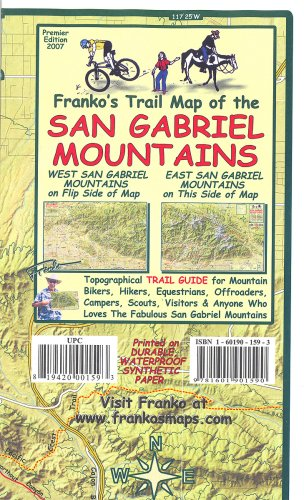 Franko's Trail Map of the San Gabriel Mountains
