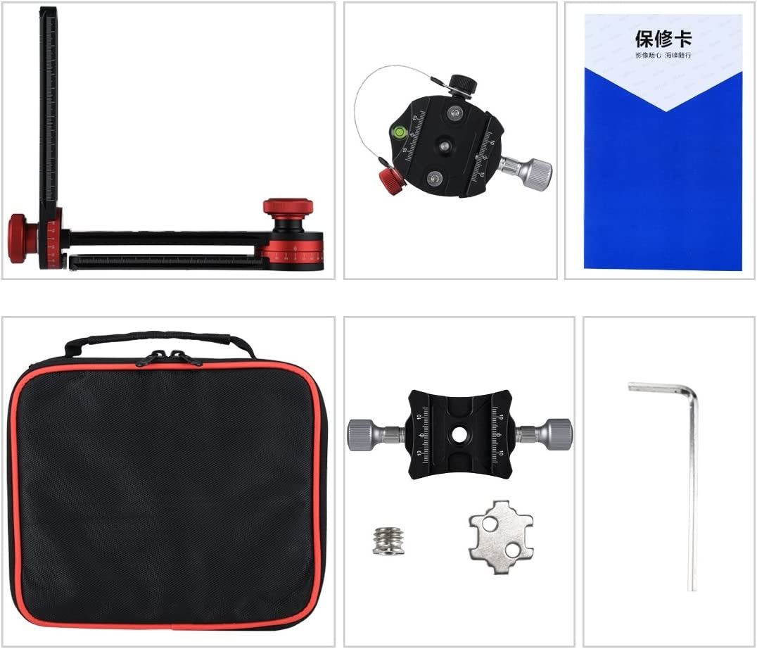 Camera Tripod Easy to Install Camera Accessories 720 Degree Panoramic Aluminum Alloy Ball Head Quick Release Plate Kits