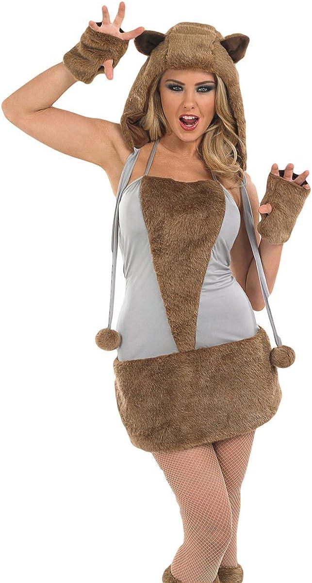 Plus Halloween Costumes Size 24.Amazon Com Ladies Sexy Brown Bear Fox Wolf Animal Halloween Fancy Dress Costume Outfit Uk 8 30 Plus Size Uk 24 26 Clothing