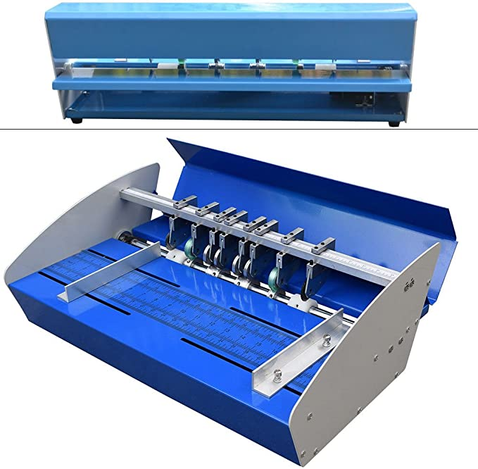 PRIT2016 Creasing Machine 18 Inch 460 mm 3 en 1 papel arrugando la máquina papel eléctrico Creaser para tarjeta de papel Book Scoring: Amazon.es: Oficina y papelería