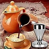 Kangkang@ 51mm Diameter Stainless Steel Espresso Coffee Bean Tamper Pressure Powder Hammer Flat Base Grip Handle Bar Kitchen Coffee Coffe Tools