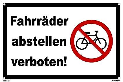 kleberio® - Bicicletas prohibidas. - Cartel de plástico con ...