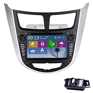 Head Unit Car Video CD CAR GPS System DVD Player Receiver System for Hyundai Solaris Verna Accent Auto Radio Audio in Dash PC BT Audio Car Stereo ...