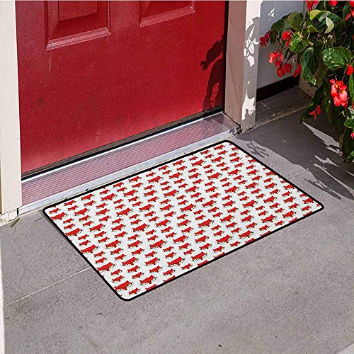 - Gloria Johnson Fox Inlet Outdoor Door mat Cartoon Hipster Red Lady Fox with Glasses and Buckle Inside a Circle of Dots Catch dust Snow and mud W29.5 x L39.4 Inch Mint Green Beige Red