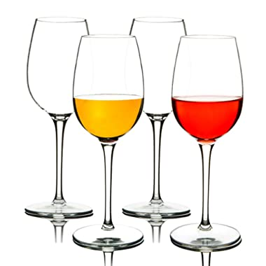 MICHLEY Unbreakable Red Wine Glasses, 100% Tritan Plastic Shatterproof Wine Goblets, BPA-free, Dishwasher-safe 12.5 oz, Set of 4