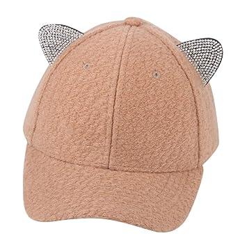 ac26196999f Soft Warm Cotton Mother Me Kid Boy Girl Hat Cute Adjustable Cat Ears  Baseball Cap Hat Winter Outdoor