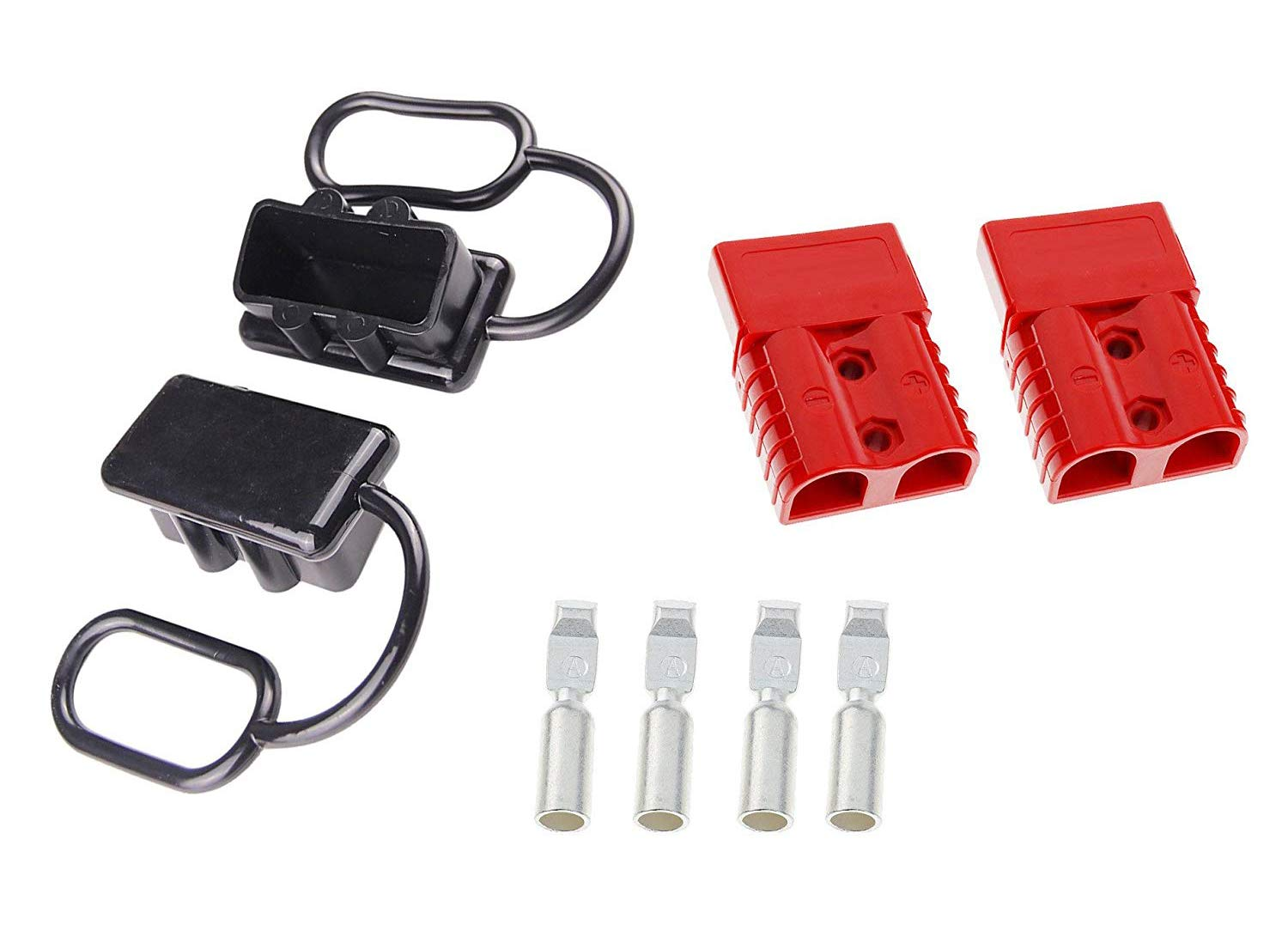 6-10AWG 120A Battery Connect Quick Connector Plug Karcy Battery Wire Quick Disconnect Connector Plug Kit for 12-36V Winch Trailer Driver Electrical Devices Red 1Pair by Karcy