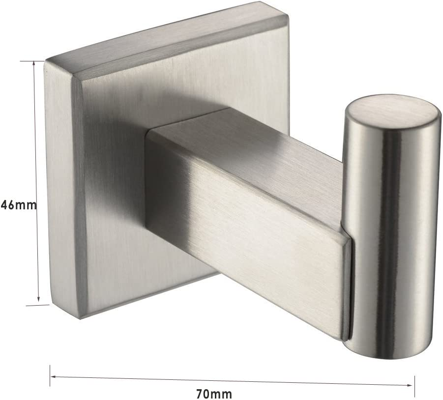 Brushed Gt1101 Robe Hook Stainless Steel Towel Ring Toilet Roll Paper Holder XVL Bathroom Accessories Set