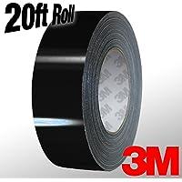 "VViViD 3M 1080 Black Gloss Vinyl Detailing Wrap Pinstriping Tape 20ft Roll (2"" x 20ft roll)"