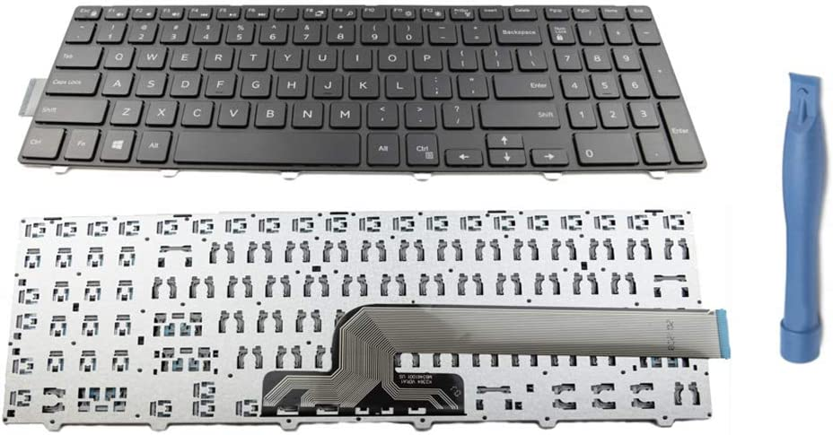 Replacement Keyboard Keys + Frame + Tool for Dell Inspiron 15 3000 3541 3542 3543 3551 3558 3559 5000 5542 5545 5547 5548 5551 5555 5558 and 17 5000 Series US Layout Repair Part