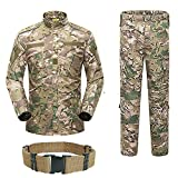 H World Shopping Men Tactical BDU Combat Uniform Jacket Shirt & Pants Suit for Army Military Airsoft Paintball Hunting Shooting War Game Multicam MC