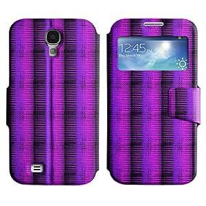 LEOCASE línea horizontal Funda Carcasa Cuero Tapa Case Para Samsung Galaxy S4 I9500 No.1005582