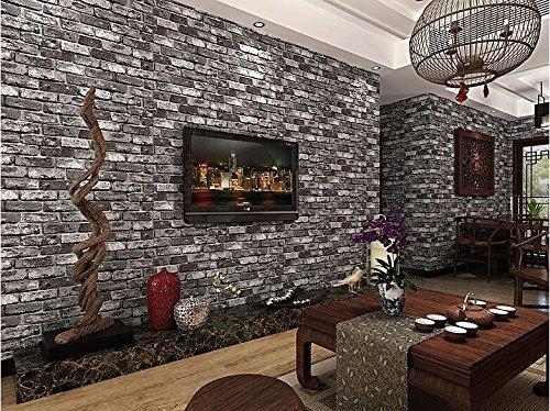 3d-darkgrey-brick-bright-wallpaper-pvc-waterproof-anti-insect-brown-mural-wallcoverings-stones-wall-
