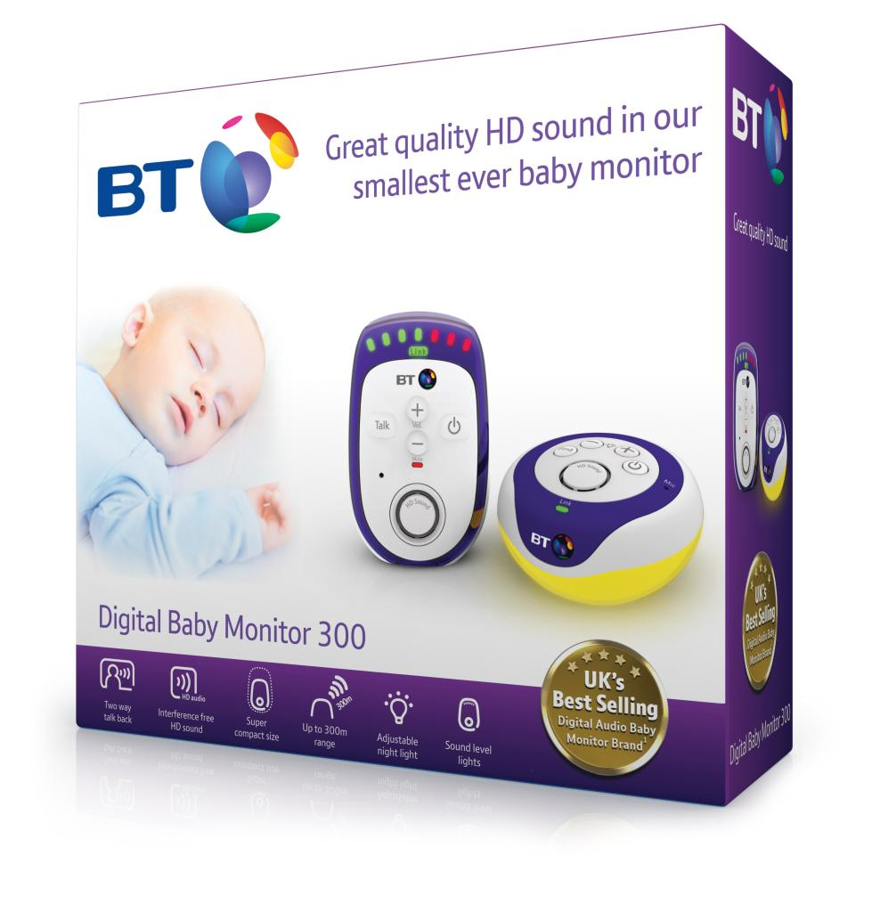 bt 300 digital baby monitor baby. Black Bedroom Furniture Sets. Home Design Ideas